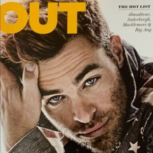 Out magazine June/July '13 the hot list Chris pine